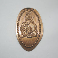 Pressed Penny: Native American Portrait