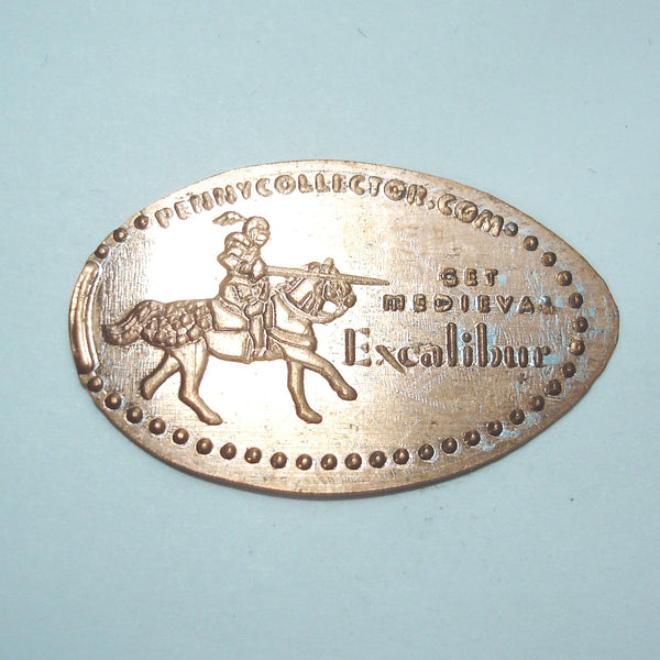Pressed Penny: Excalibur - Get Medieval - Knight on Horse