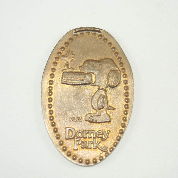 Pressed Penny: Dorney Park - Snoopy with Woodstock and Bowl in Mouth