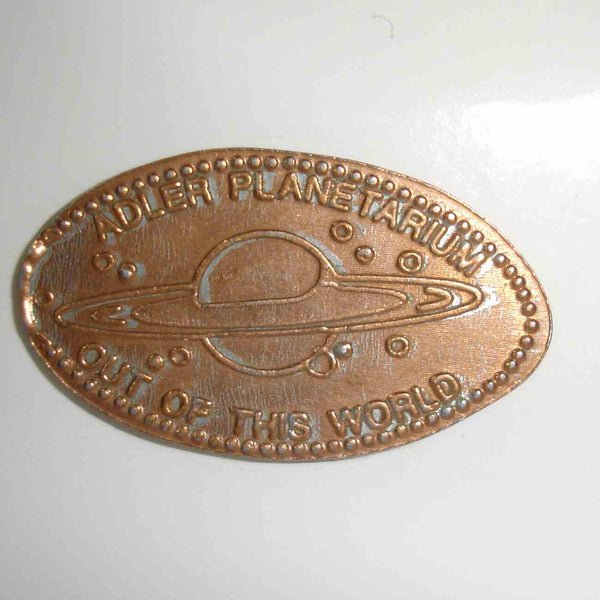 Pressed Penny: Adler Planetarium - Out Of This World - Saturn