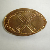 Pressed Penny: California State Railroad Museum - Railroad Crossing