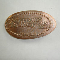 Pressed Penny: Disney Pirates of the Caribbean - Disneyland - Canon