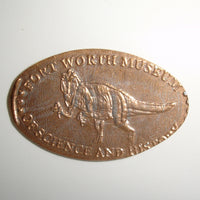 Pressed Penny: Fort Worth Museum of Science and History - Dinosaur