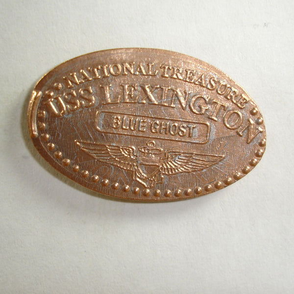 Pressed Penny: National Treasure - USS Lexington - Blue Ghost