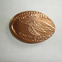 Pressed Penny: Topsail Island, North Carolina - Sea Turtle