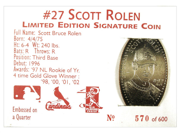 Scott Rolen Limited Edition Signature Coin