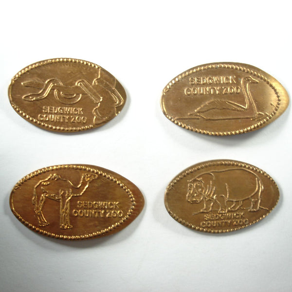 Sedgwick County Zoo 4 Coin Set