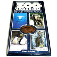 Zoo Aquarium Souvenir Coin Album with Bonus Coin