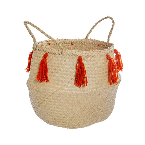 Terracotta Tassel Basket