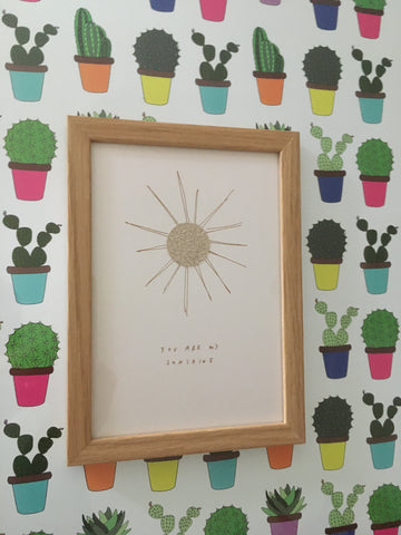 You Are My Sunshine Print Framed