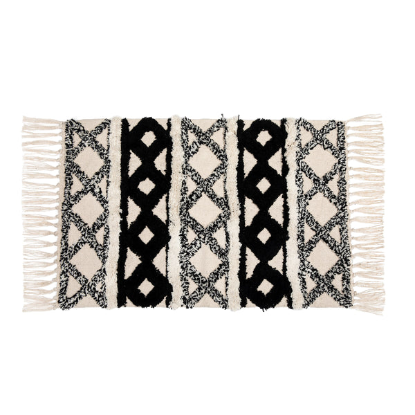 Black and White Tufted Rug
