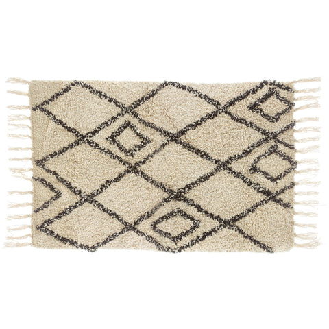 Black and White Berber Tufted Rug