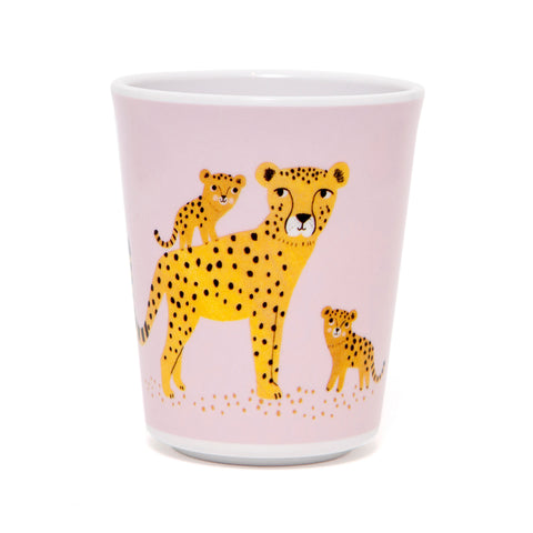 Leopard melamine cup