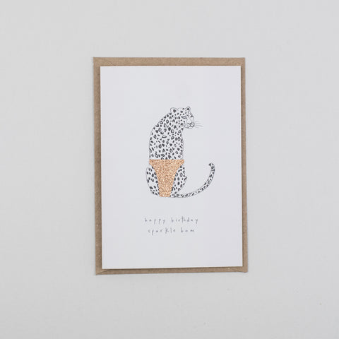 Sparkle Bum Card