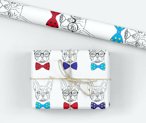 Gentleman Frenchie Gift Wrap