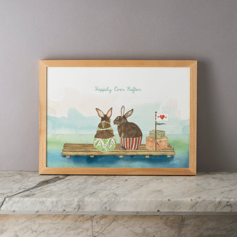 Happily Ever Rafter Print - Framed