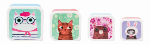 Cat Snack Boxes set of 4