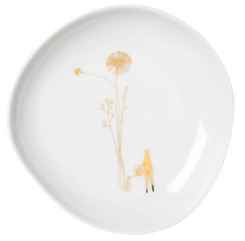 Flower Decorated Plates
