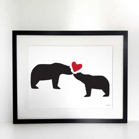 I Love You Bears Print - Unframed