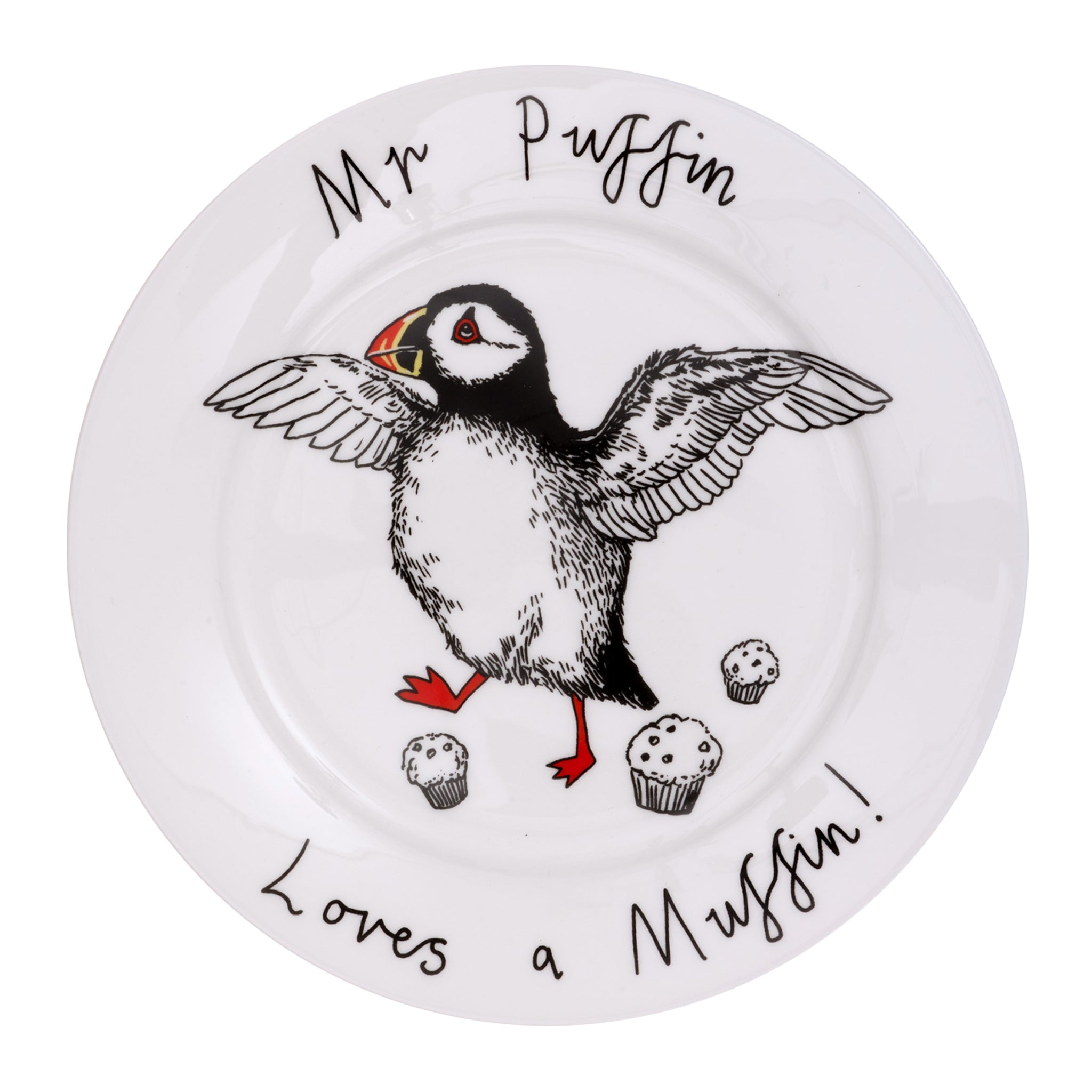 Mr Puffin Loves A Muffin Side Plate