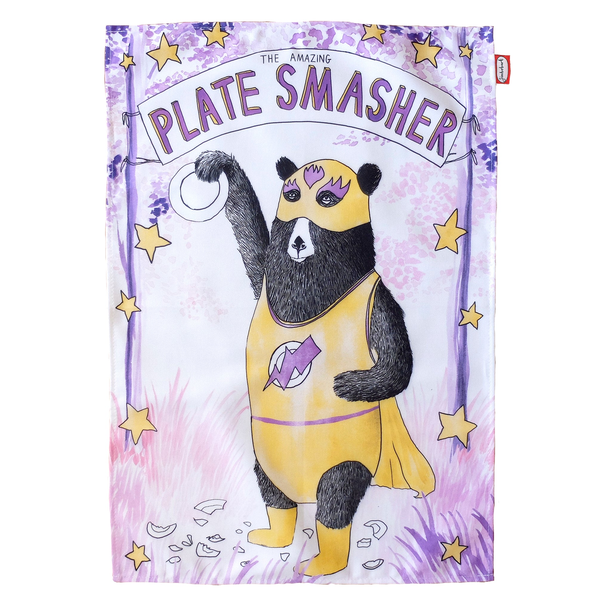 Plate Smasher Tea Towel