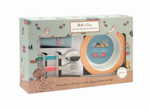 Toy Box Melamine and Cutlery Set