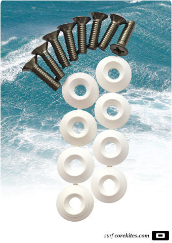 CORE Fin Screw Set and Washers, M6x18 or M6x22