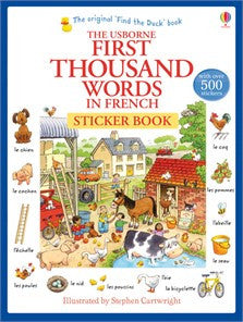 French | First 1000 Words Sticker Book