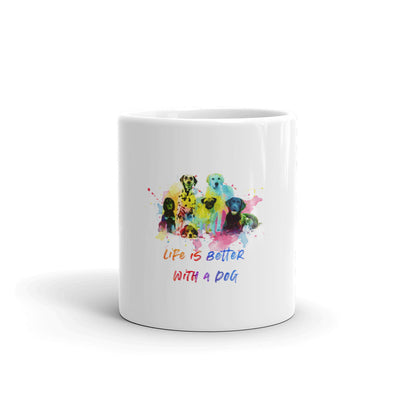Life is better with with many Dogs Mug