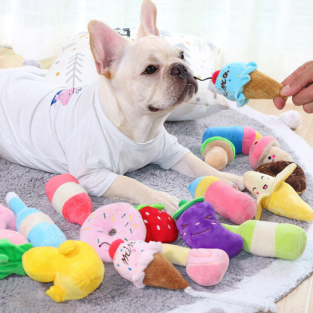 Cute Plush Dog Toy