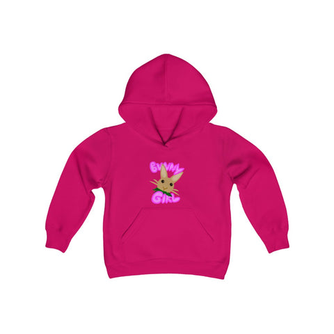 """Bunny Girl"" Youth Heavy Blend Hooded Sweatshirt - Bunnypapa"