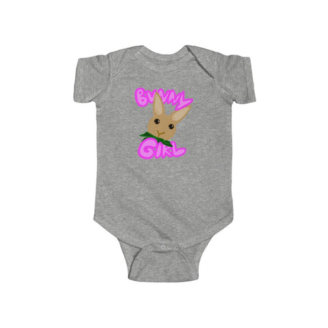 """Bunny Girl"" Infant Fine Jersey Bodysuit - Bunnypapa"