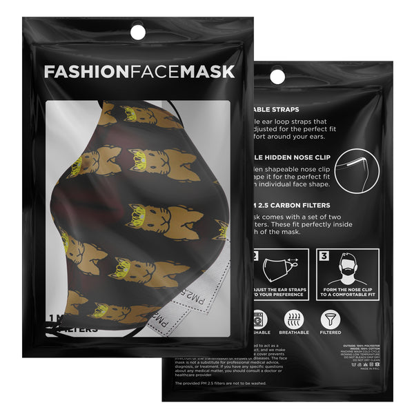 """Bunny Queen"" Patterned Face Mask - Bunnypapa"