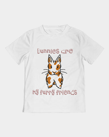 """Bunnies Are My Furry Friends"" Kids Tee - Bunnypapa"