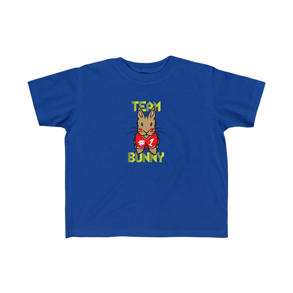 """Red Team Bunny"" Toddler Jersey Tee - Bunnypapa"