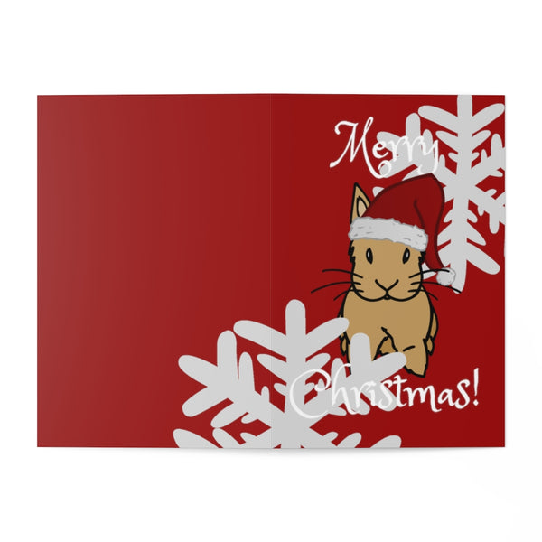 Merry Christmas! Red Greeting Cards (7 pcs) - Bunnypapa