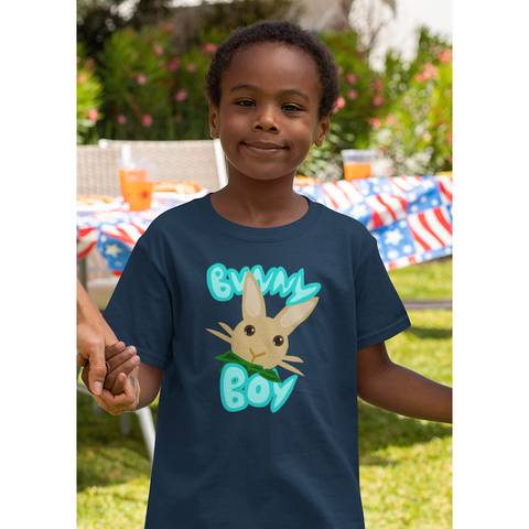 """Bunny Boy"" Kids Softstyle Tee - Bunnypapa"