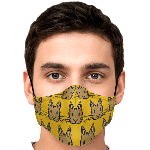 """Bunny Faces"" Patterned Face Mask - Bunnypapa"