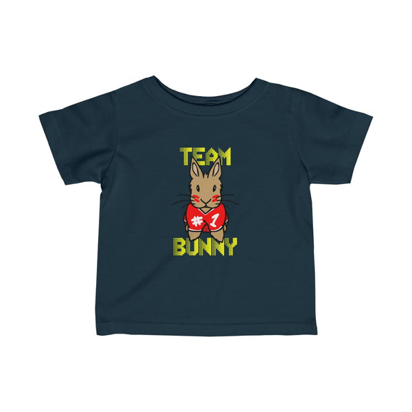 """Red Team Bunny"" Infant Jersey Tee - Bunnypapa"