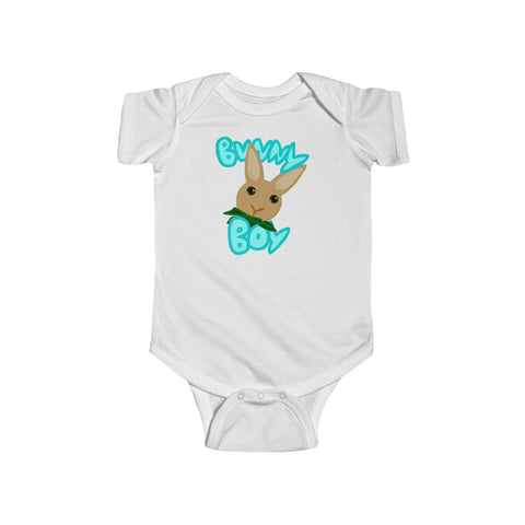 """Bunny Boy"" Infant Fine Jersey Bodysuit - Bunnypapa"