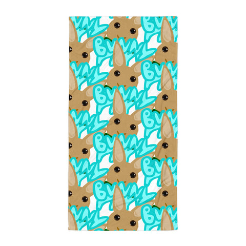 """Bunny Papa"" Patterned Towel - Bunnypapa"