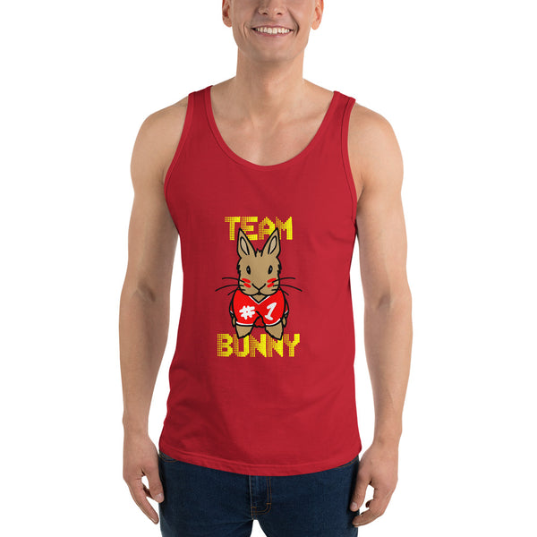 """Red Team Bunny"" Unisex Tank Top - Bunnypapa"