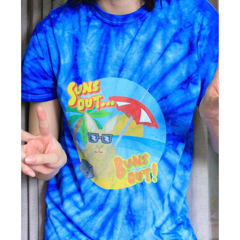 """Suns Out... Buns Out!"" Tie Dye T-Shirt - Bunnypapa"