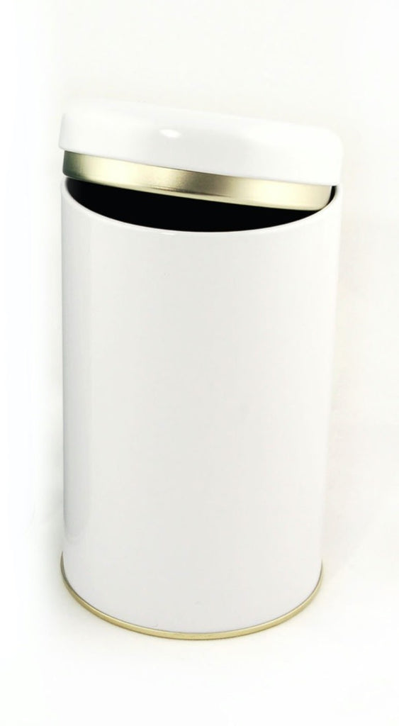 Tea Tins - Small - 2 oz Round White