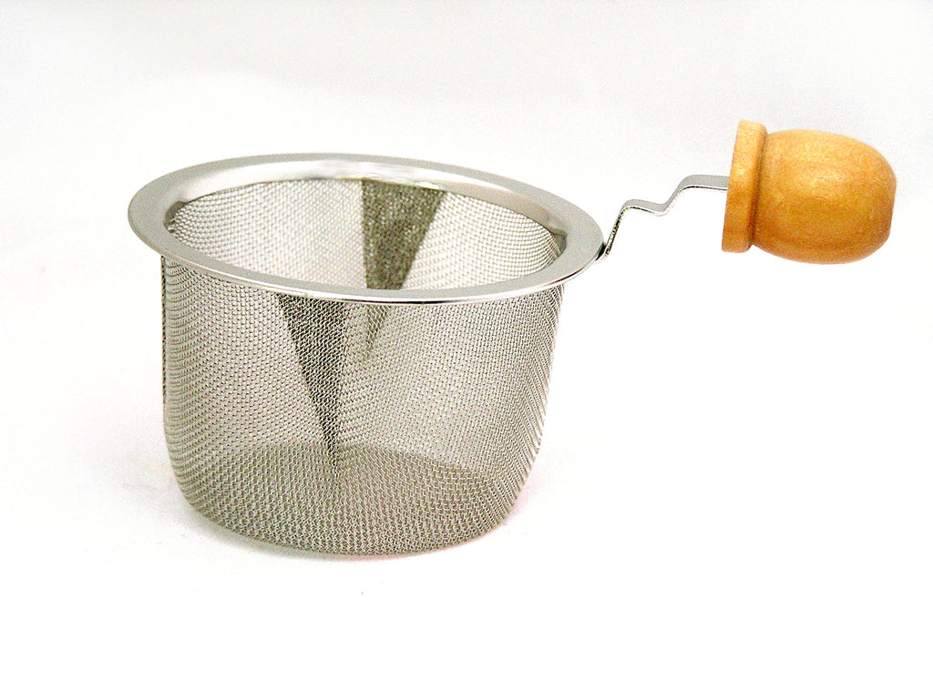 Mesh Basket Infuser with Wood Handle 3 inch