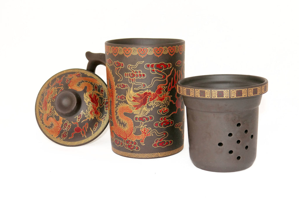 'Gold Dragon' - Yixing Lidded Mug