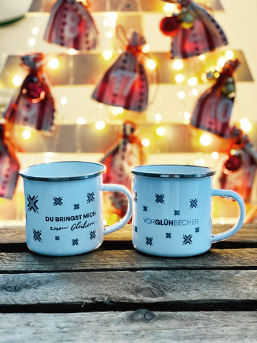 2er-Set WINTERPERLE Emaille-Tasse