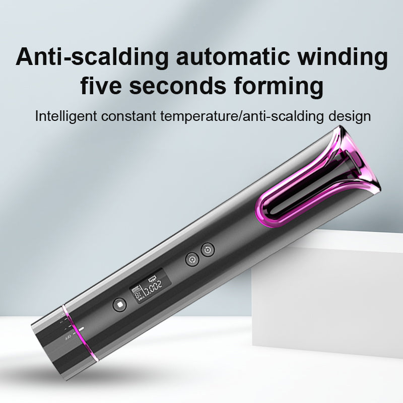 Cordless Rotating Curling Iron - SILKYTOO