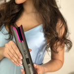SilkyToo™ Cordless Rotating Curling Iron - SILKYTOO