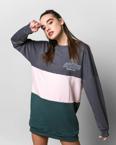 """VAL ATHENS"" Oversized 3 Panel Sweatshirt"